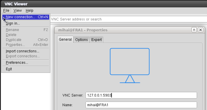 realvnc new connection